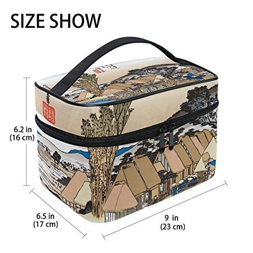 ee1f6e7c4b Ukiyoe Ukiyo-E Print Japanese Art Travel Makeup Toiletry Organizer Case  Cosmetic Bag - Buy Online in Oman.