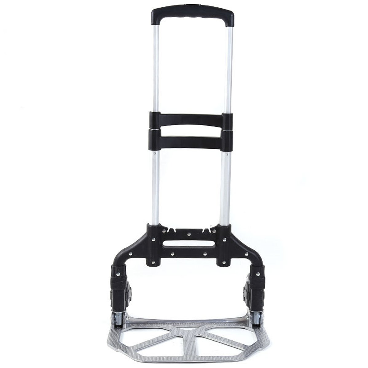 UNKE Aluminium Luggage Cart Folding Dolly Push Truck Collapsible Hand Trolley 170 lbs