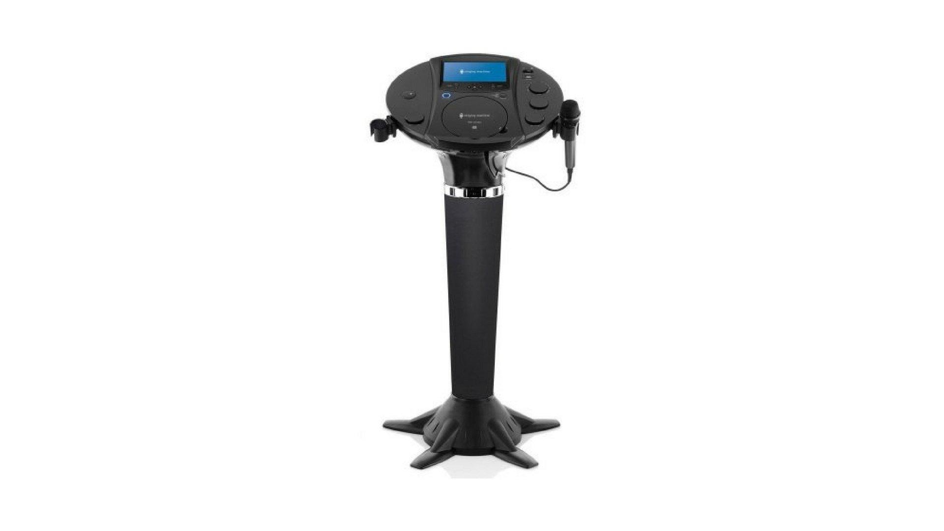 Singing Machine Bluetooth Pedestal Karaoke Streaming, CD+G, or MP3+G with built-in speakers