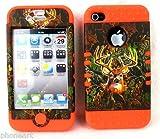 iPhone 4 4S Deer Camouflage and Fluorescent Orange Camo Shock Resistant Case Cover, Best Gadgets