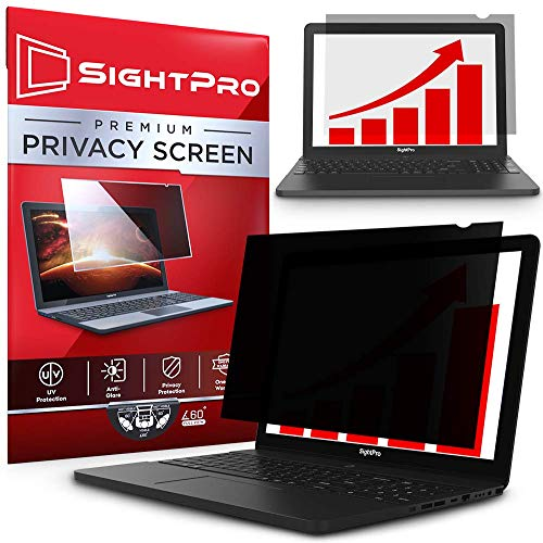 SightPro 15.6 Inch Laptop Privacy Screen Filter for 16:9 Widescreen Display - Computer Monitor Privacy and Anti-Glare - 14' Shield
