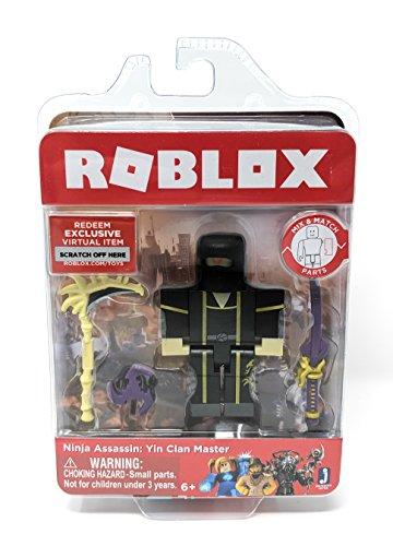 Roblox Ninja Assassin: Yin Clan Master Single Figure Core Pack with Exclusive Virtual Item - Yin Figure