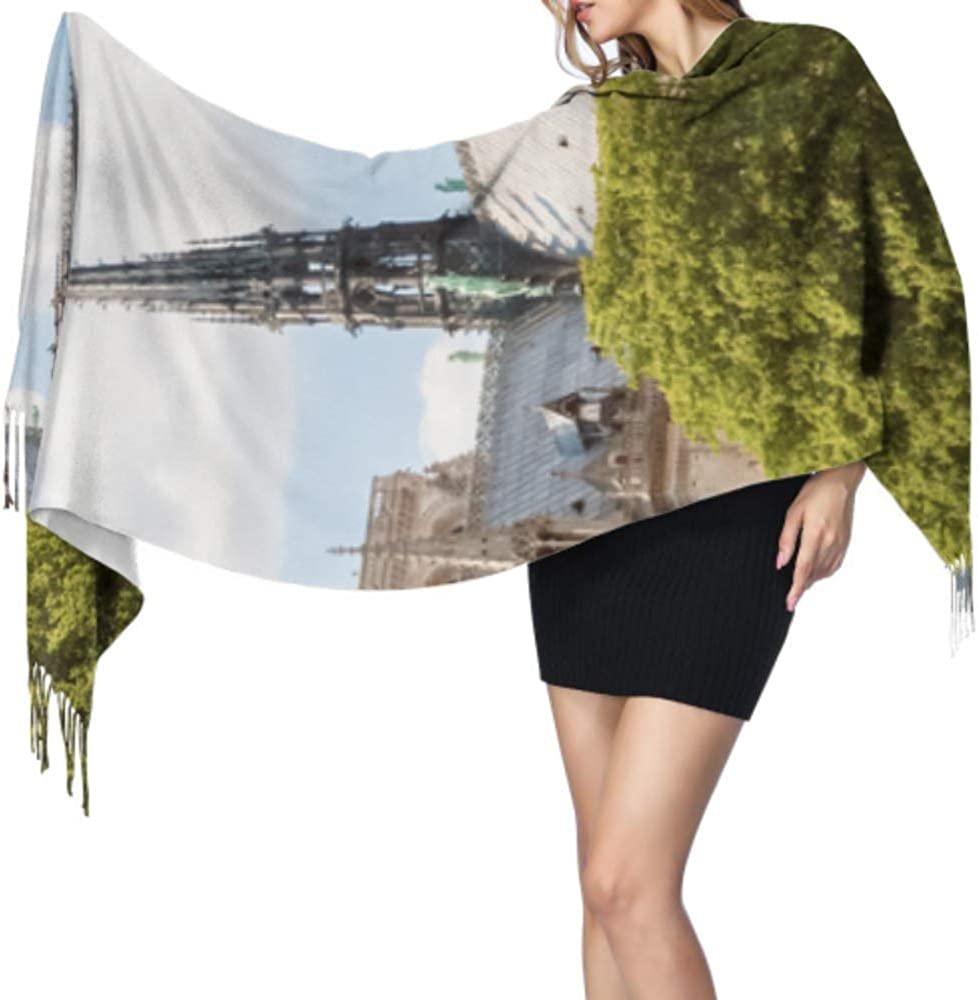 27x77 Lightweight Fringe Scarf Different Feel Notre Dame De Paris Shawl Wrap Women Woman Shawl Wrap Stylish Large Warm Blanket
