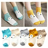 #9: Kidstree Cute Mesh Girls Socks Summer Thin Cotton Toddler Kid Crew Socks 5 Pairs