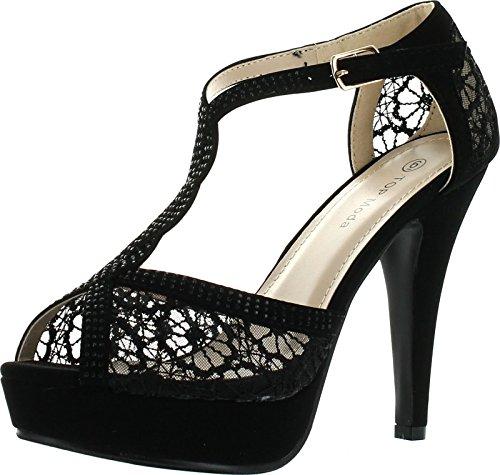 Jjf Shoes Hy-5 Sandals, Black Nubuck, 8