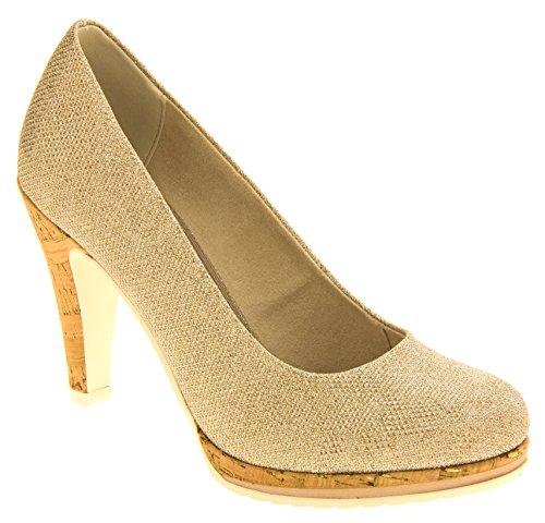 Marco Tozzi Mujer Zapatos de Tacón Alto Oro