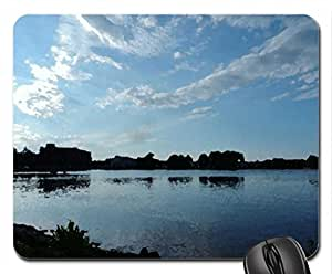 Clouds Over Little Lake Mouse Pad, Mousepad (Sky Mouse Pad, 10.2 x 8.3 x 0.12 inches)
