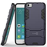 Xiaomi Mi 5 Case, CoverON® [Shadow Armor Series] Hard Slim Hybrid Kickstand Phone Cover Case for Xiaomi Mi 5 - Gray (Navy) & Black