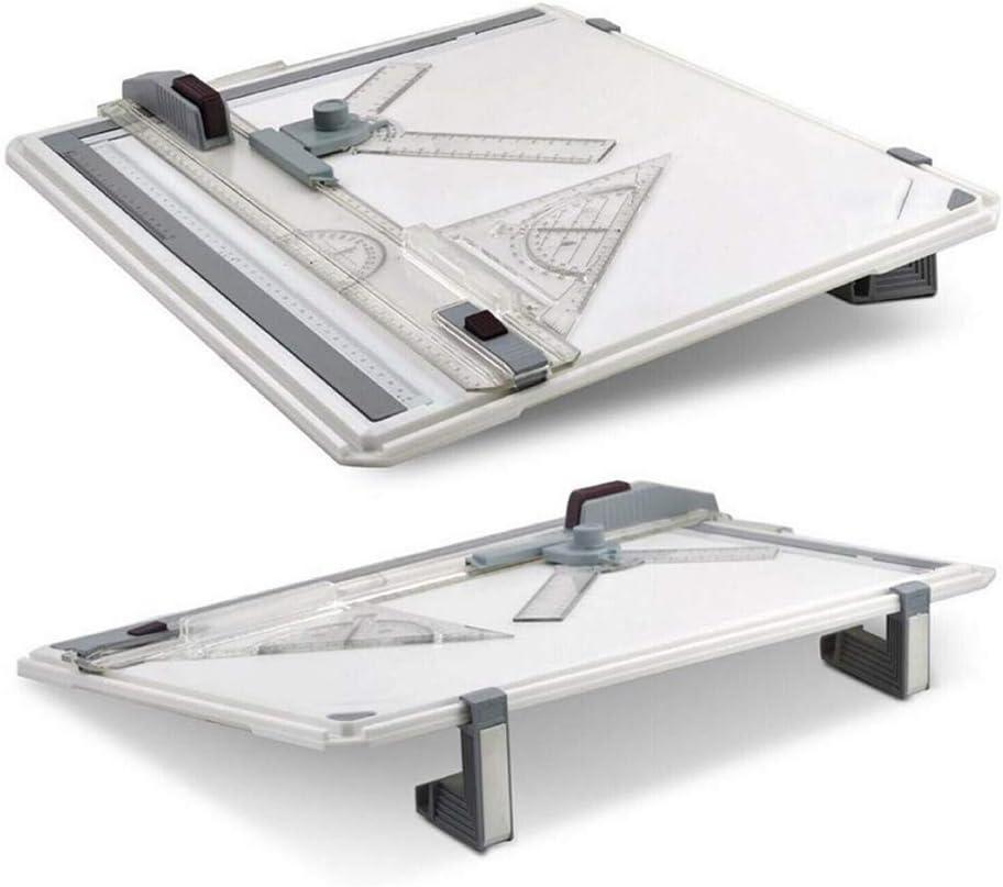 Gelentea A3 Tavoli da Disegno con Angolo di Movimento Parallelo e Angolo Regolabile