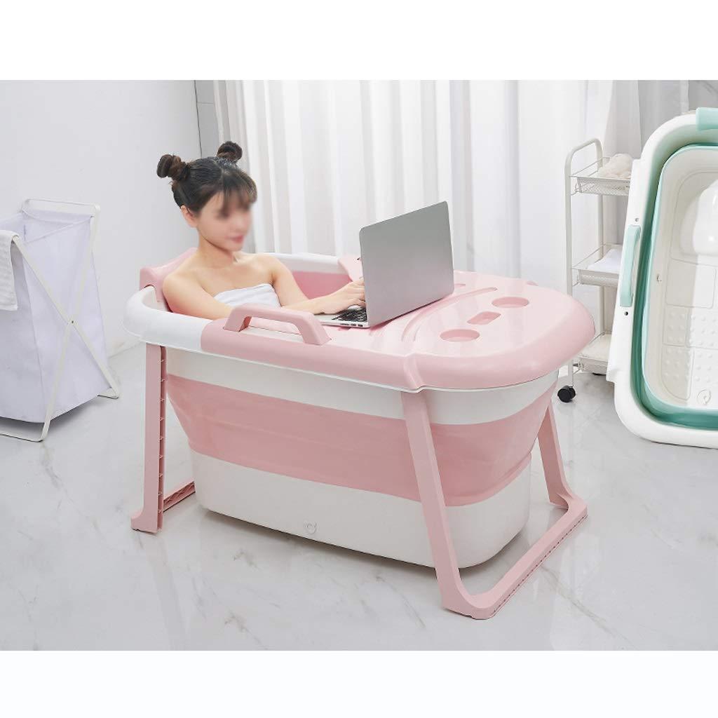 LDG Adult Bathtub, Thickened Portable Collapsible Bath Barrel PP Soft Plastic Bathtub Long-Lasting Insulation