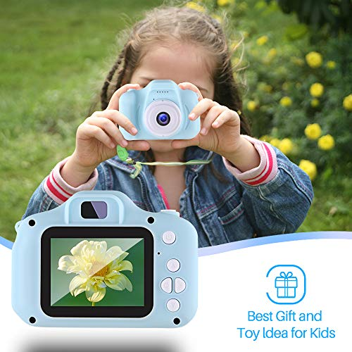 NINE CUBE Kids Toys Children Digital Camera for 3-9 Year Old Boys Girls Kids Action Camera ,Toddler Video Recorder 2 Inch 1080P Birthday Gifts for 3 4 5 6 7 8 9 10 Year Old Kids (32G SD Card Included