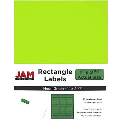avery neon laser labels rectangle assorted fluorescent colors 1 x