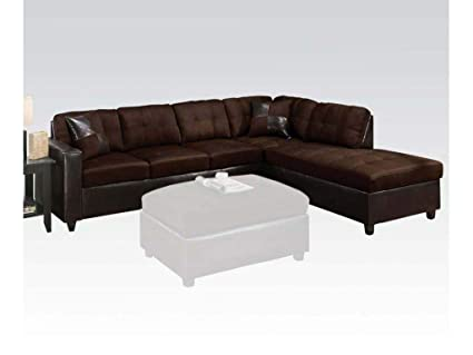Amazon.com: Esofastore Modern Sectional Sofa Couch Chocolate ...