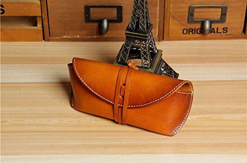 Ferre Leather (AMAZZANG-Handmade Mens Womens Real Leather Eye Glasses Case Fashion Sunglasses Pouch Bag (BROWN))