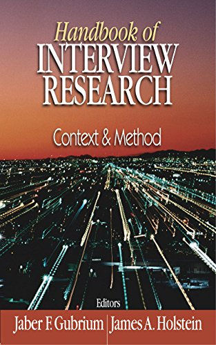 Download Handbook of Interview Research: Context and Method Pdf
