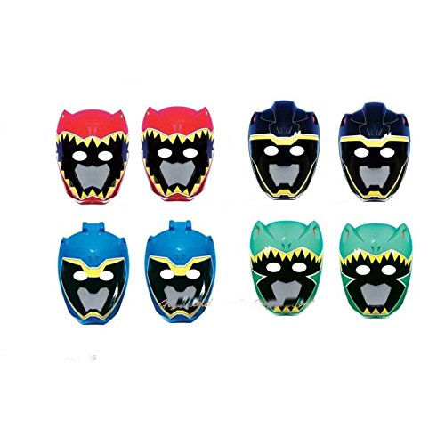 [New Power Rangers Dino Charge Paper Masks Birthday Party Supplies 8 ct, Party Favors] (Power Rangers Masks)