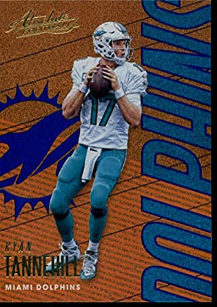 2018 Absolute Football Spectrum Blue  58 Ryan Tannehill Miami Dolphins  Official NFL Trading Card made 9e25c3d89