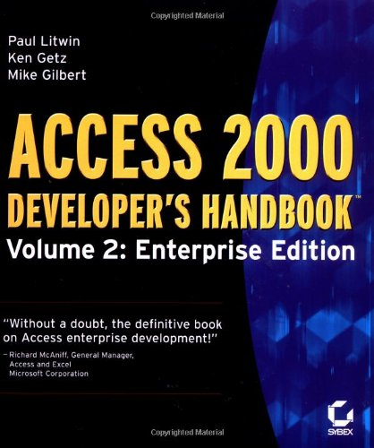 Access 2000 Developer's Handbook, Volume 2: Enterprise Edition