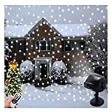 Snowflake Projector Light, YINLEE Led Christmas Lights Snow Falling Lights Indoor Halloween Outdoor Landscape Lighting Patio Garden Waterproof Lamp with Remote Control