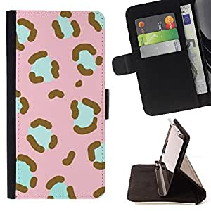 Jordan Colourful Shop - pattern pink teal animal fur For Apple Iphone 6 - Leather Case Absorci???¡¯???€????€?????????&Ati