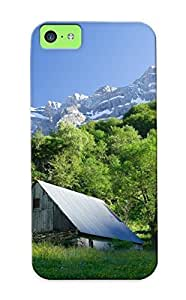 LJF phone case Fashionable Style Case Cover Skin Series For Iphone 5c- Old House In The Mountains