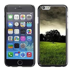 Be Good Phone Accessory // Dura Cáscara cubierta Protectora Caso Carcasa Funda de Protección para Apple Iphone 6 // Dark prairie