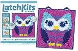 LatchKits Mini-Rug Sewing Kit The Classic Latch Hook Craft Kit - Owl: more info