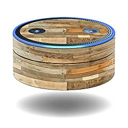 MightySkins Protective Vinyl Skin Decal for Amazon Echo Dot (1st Generation) wrap cover sticker skins Reclaimed Wood