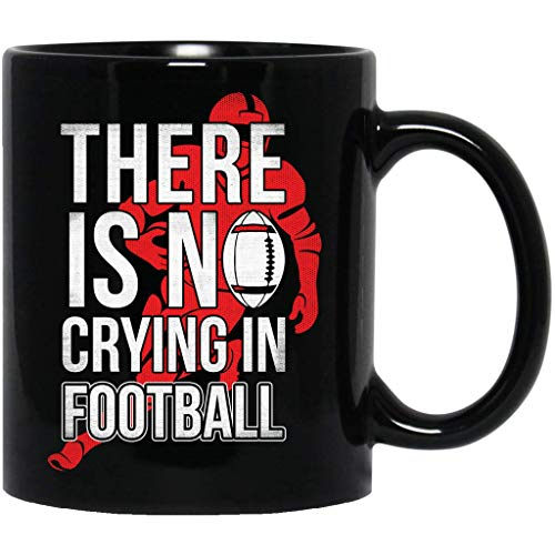 - There Is No Crying In Football Funny Sports Referee Men Funny Black Mug
