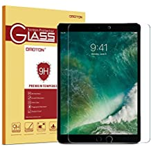 iPad Pro 10.5 Screen Protector, OMOTON [Apple Pencil Compatible] Tempered Glass Screen Protector with [9H Hardness] [Crystal Clear] [Anti-Scratch] [Bubble-Free Installation] for iPad Pro 10.5 inch