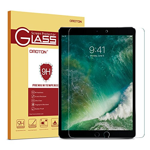 iPad Pro 10.5 Screen Protector, OMOTON Tempered-Glass Screen Protector with...