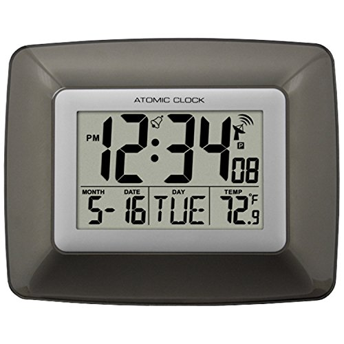 La Crosse Technology WS-8008U-IT Atomic Digital Wall Clock with Temperature (Wall Clock Online Digital)