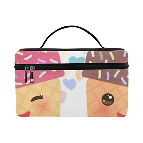 Japón Kawaii Pintura de Dibujos Animados Lindo Tamaño de Gran Perezoso Maquillaje cosmético Bolsa Tren Estuche