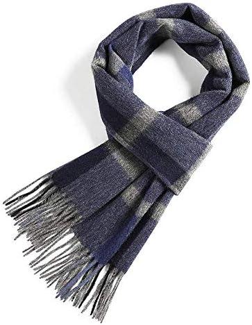 ZBHW Kashmir Kollektion von Wolle Seide Herbst Winter 2018-19 Check Strips Unisex Damen Herren Pashmina Schal Schal (Farbe : Style D)