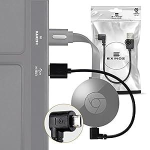 Chromecast USB Cable -- 8 Inch USB Cable and Bonus Chromecast eBook. Designed to Power Your Google Chromecast HDMI Streaming Media Player from Your TV USB Port