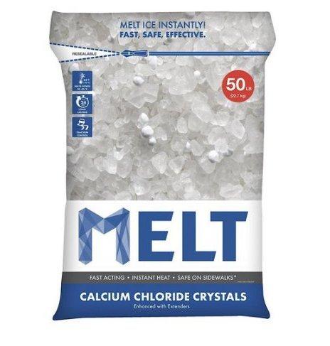Snow Joe MELT50CC Melt Calcium Chloride Crystals Ice Melter Resealable Bag, 50-Pound (6)