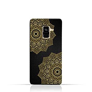 AMC Design Vintage Mandala 1201 Printed Case for samsung Galaxy A8 (2018) - Black & Yellow