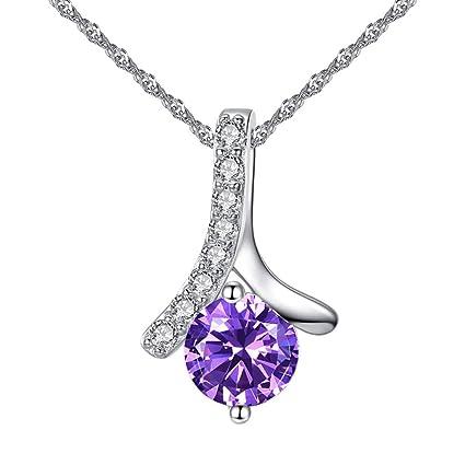 62005cdc2c9 Amazon.com: Toponly Herringbone Pendant Micro-Inlay Necklace My Heart  Zircon Copper Plated Jewelry Anniversary: Home & Kitchen