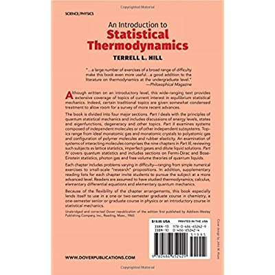 Buy An Introduction To Statistical Thermodynamics Dover Books On Physics Unknown Edition Online In Kazakhstan 0486652424