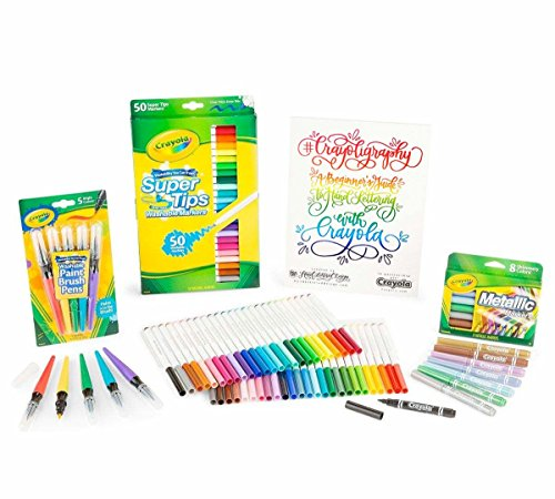 Crayola Crayoligraphy Calligraphy Kit, Hand Lettering for Beginners, Gift, 60+ Pieces