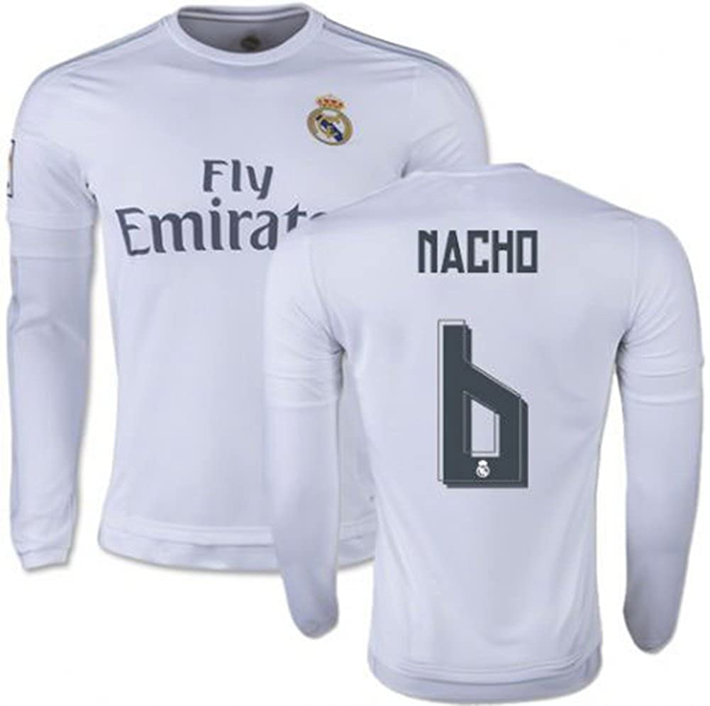 sports shoes 67188 99119 2015-2016 Real Madrid #6 Nacho Fernandez Home Jersey Men's ...