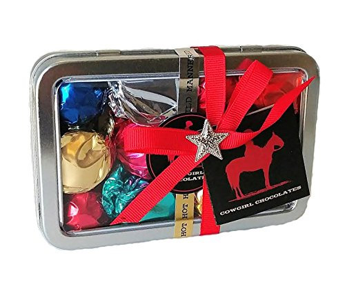 Gourmet Chocolate Assorted Truffles by Cowgirl Chocolates (Assorted Spicy & Mild, 1/3 lb Truffle Travel Tin)