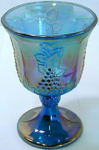 Grape Carnival Glass - GL272 - Indiana Harvest Grape rainbow carnival glass goblet