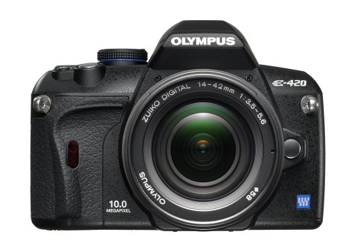 Olympus Evolt E420 10MP Digital SLR Camera with 14-42mm f/3.5-5.6 Zuiko Lens