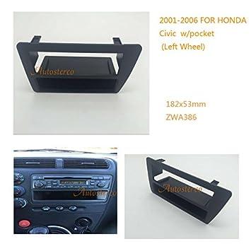 autostereo W/bolsillo izquierda rueda marco embellecedor de radio de coche Kit de montaje estéreo cara Facia Fascia coche estéreo Radio Fascia Facia panel ...