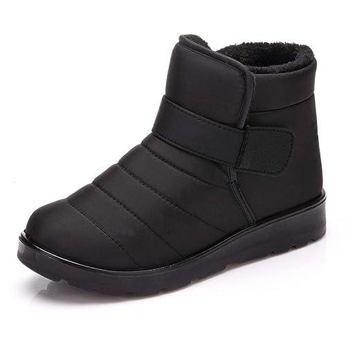 IOSHAPO Hombre Mujer Pareja Manga Botas de Nieve Cómodos Botines Zapatos de algodón Botas Calientes: Amazon.es: Zapatos y complementos