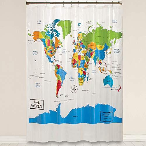 Saturday Knight The The World Shower Curtain, Multi