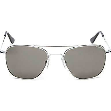 2b10a1470b Amazon.com  Randolph Aviator Bright Chrome Skull Temple Sunglasses ...