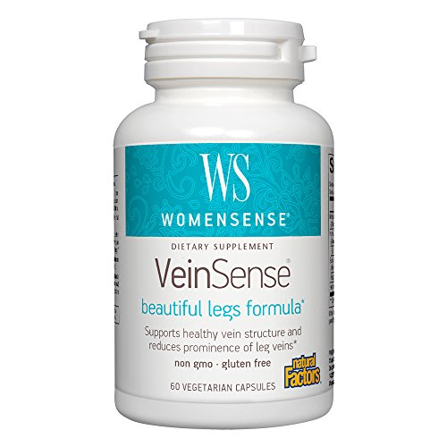 Carbon Eyelids (Natural Factors - WomenSense VeinSense, Supports Healthy Vein Structure, 60 Vegetarian Capsules)