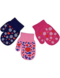 Little Girls and Infants Magic Stretch Mittens 3 Pairs...